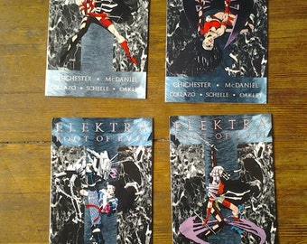 Elektra: The Root of Evil; Vol 1, 1 through 4 Modern Age Comic Book Lot (Full Limited Series).  NM- (9.2). 1995.  Marvel Comics