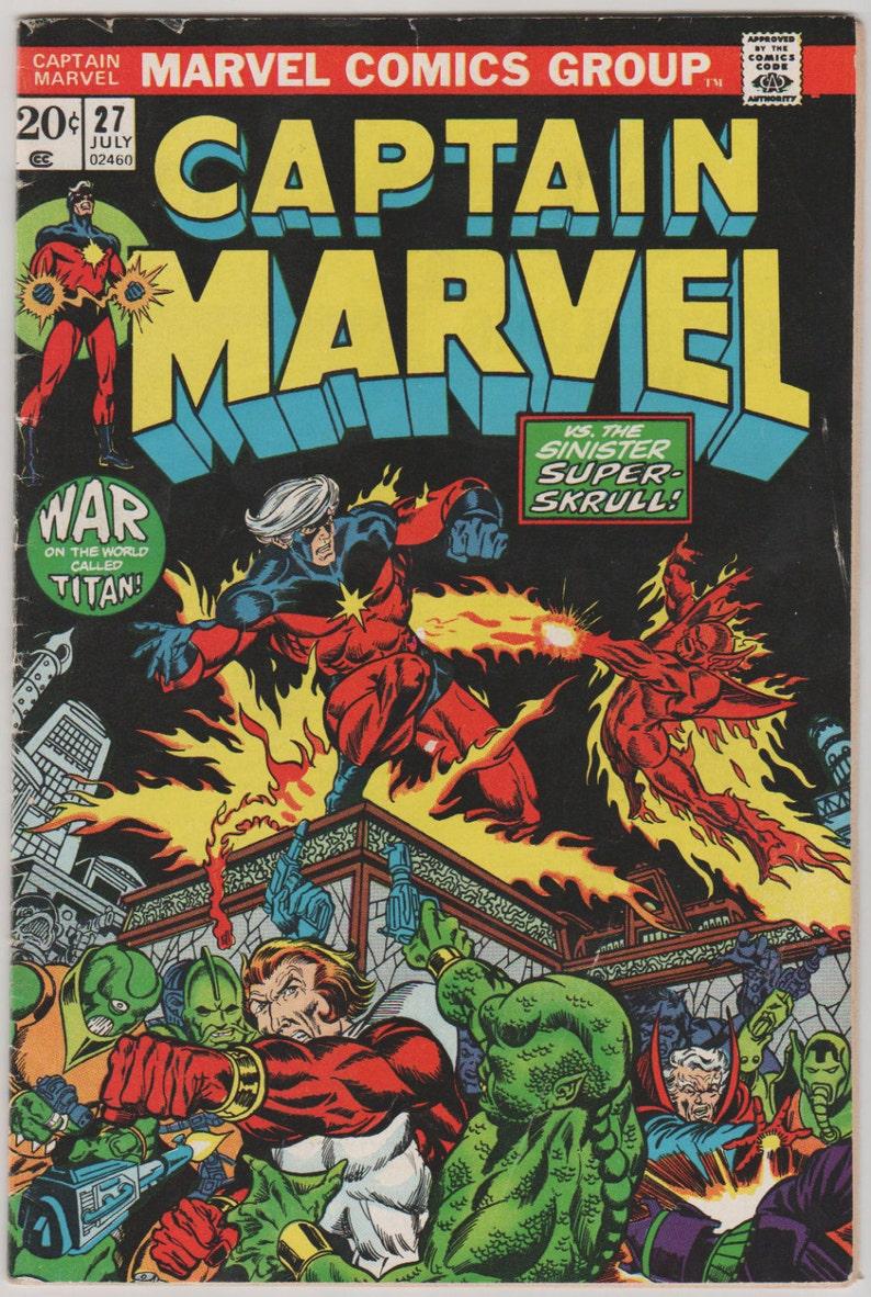 Captain Marvel Vol 1 27 Bronze Age Comic Book.  FN 5.5. image 0