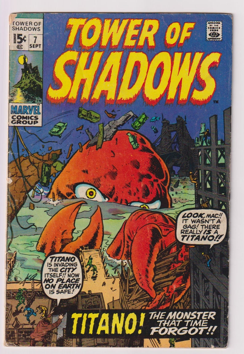 Tower of Shadows Vol 1 7 Bronze Age Horror Comic. VG 4.0. image 0