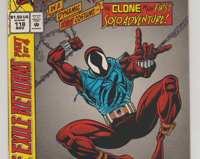 Web of Spider-Man; Vol 1, 118,  Modern Age Comic Book.  NM (9.4). November 1994.  Marvel Comics
