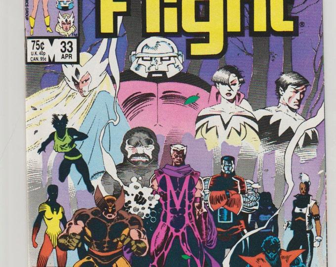 Alpha Flight; Vol 1, 33 Copper Age Comic Book. NM+ (9.6). April 1986.  Marvel Comics