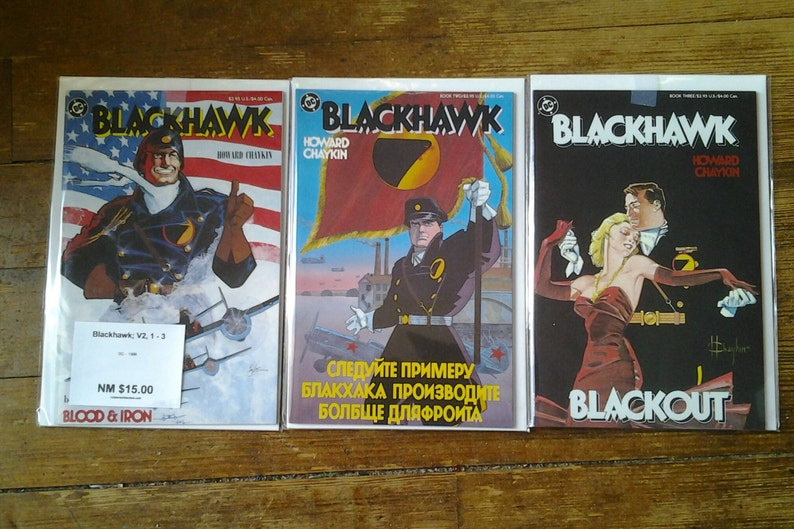 Blackhawk Vol 2 1 through 3 full limited series Copper Age image 0