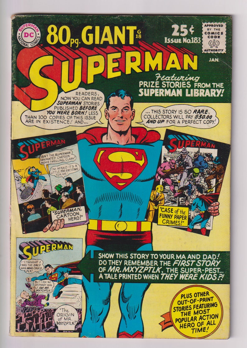 Superman Vol 1 183. Silver Age Comic Book. VG 4.0. January image 0