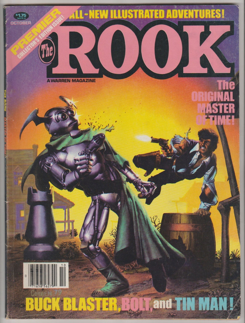 The Rook Vol 1 1 Bronze Age Comic Book. VF 7.5. October image 0