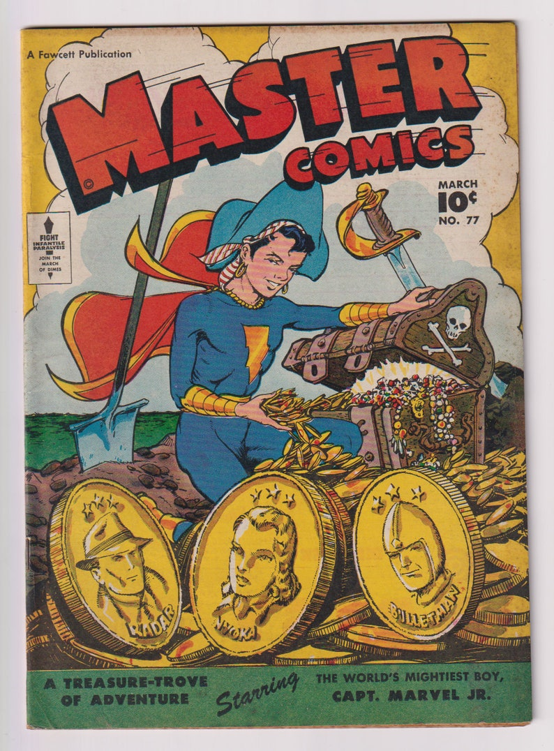 Master Comics Vol 1 77 Golden Age Comic Book. FN 6.0. image 0