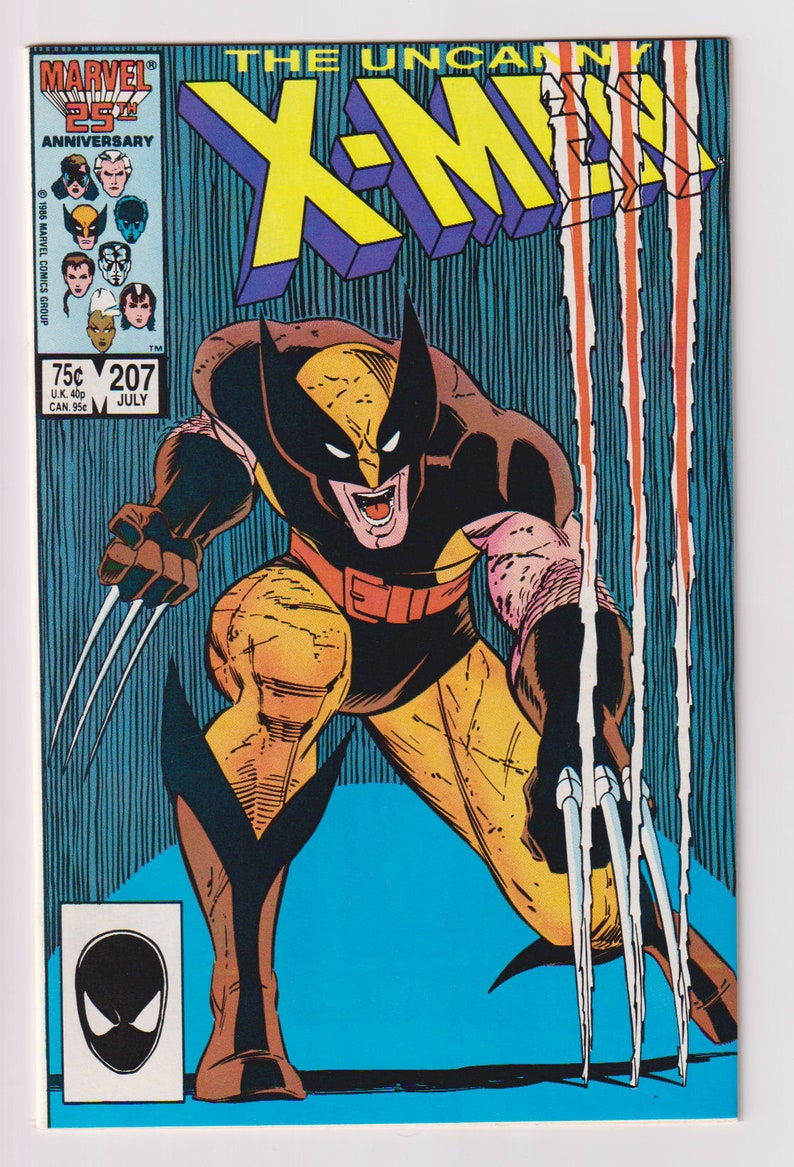 Uncanny X-Men Vol 1 207 Copper Age Comic Book. NM 9.2. image 0