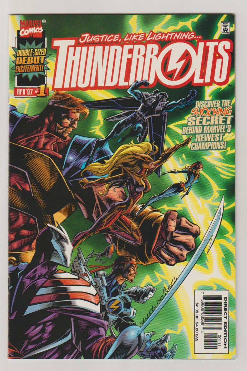 Thunderbolts Vol 1 1 Modern Age Comic Book. NM 9.4. April image 0
