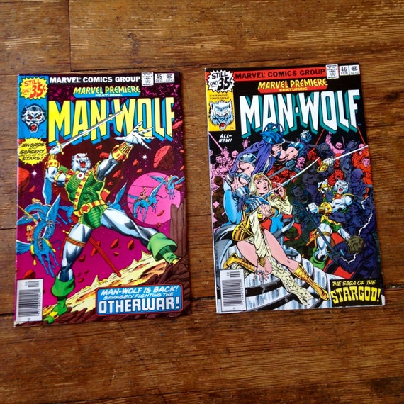 Marvel Premiere: Man-Wolf; Vol 1, 45 and 46. VF (8.0). December 1978 - February 1979.  Marvel Comics