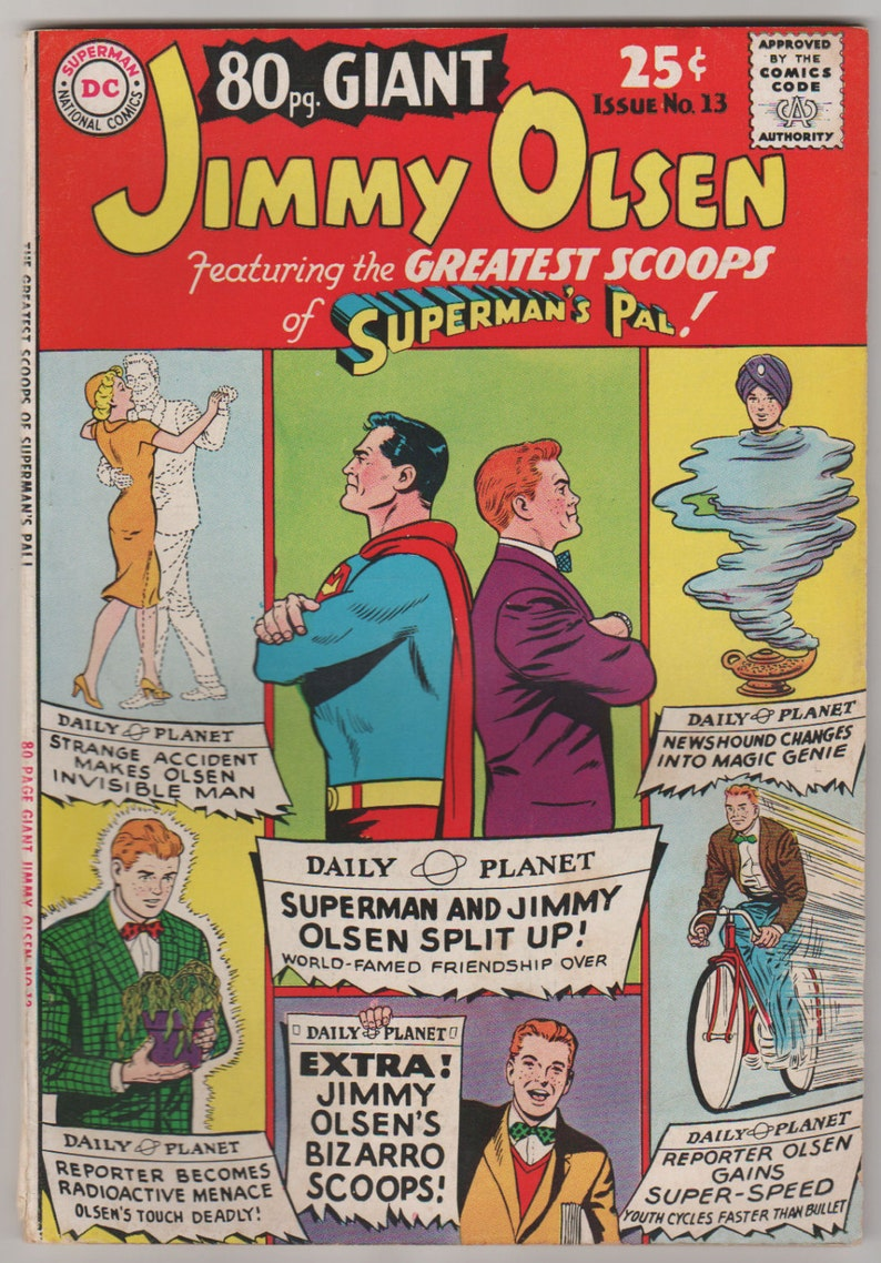 80 Page Giant Vol 1 13 Jimmy Olsen Silver Age Comic Book. image 0