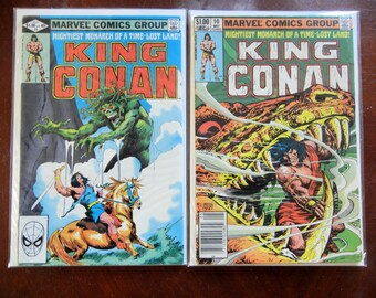 King Conan 2 Pack; Vol 1, 9 and 10 Bronze Age Comic Book Lot.  VF+ to VF/NM (8.5 - 9.0). 1982.  Marvel Comics