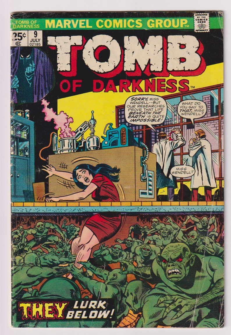 Tomb of Darkness Vol 1 9 Bronze Age Horror Comic. VG 4.0. image 0
