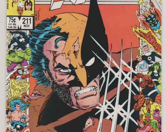 Uncanny X-Men; Vol 1, 211, Copper Age Comic Book.  NM+ (9.6)  November 1986. Marvel Comics