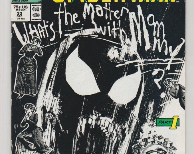 Web of Spiderman; Vol 1, 33, Copper Age Comic Book. NM- (9.2). December 1987.  Marvel Comics.