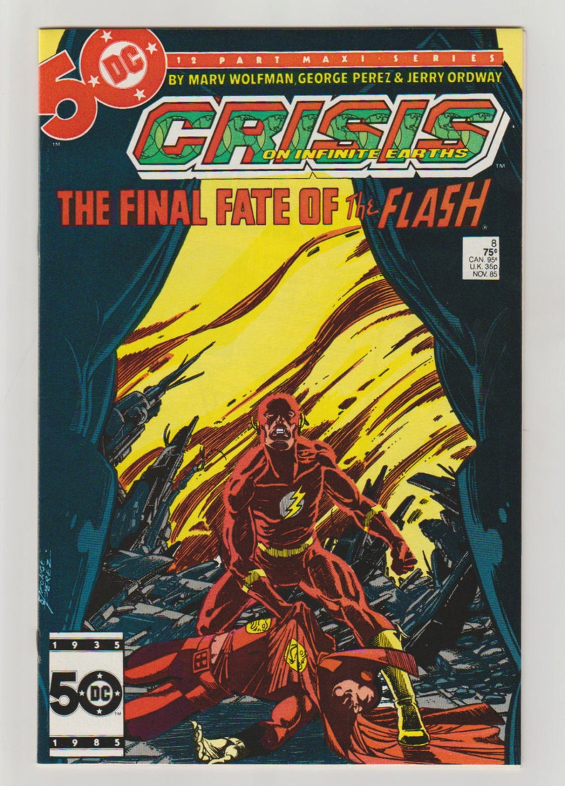 Crisis on Infinite Earths Vol 1 8 Copper Age Comic Book. image 0