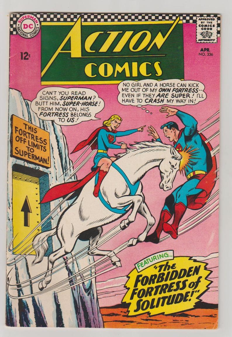 Action Comics Vol 1 336 Silver Age Comic Book.  VF 7.5. image 0