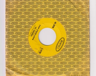 """1965 For Your Love 45 RPM 7"""" Record Single 5-9790, The Yardbirds. Generic Sleeve, NM Record. Epic Records"""