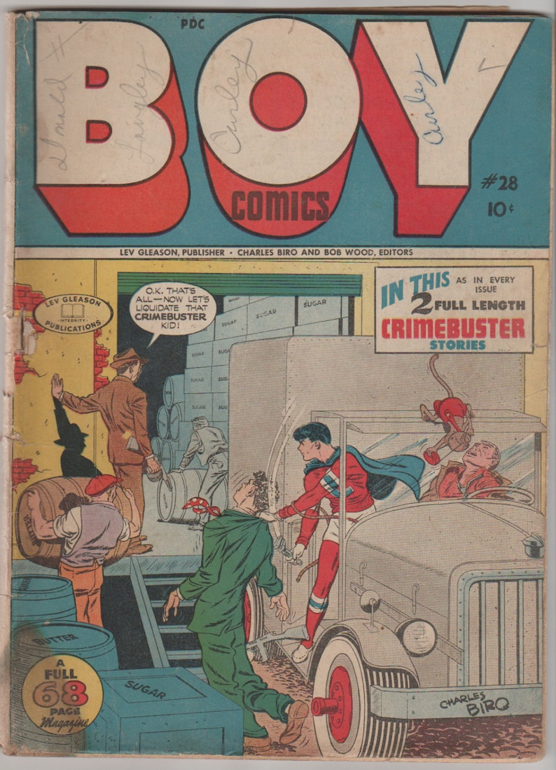 Boy Comics Vol 1 28 Golden Age Comic Book. GD 2.0  June image 0