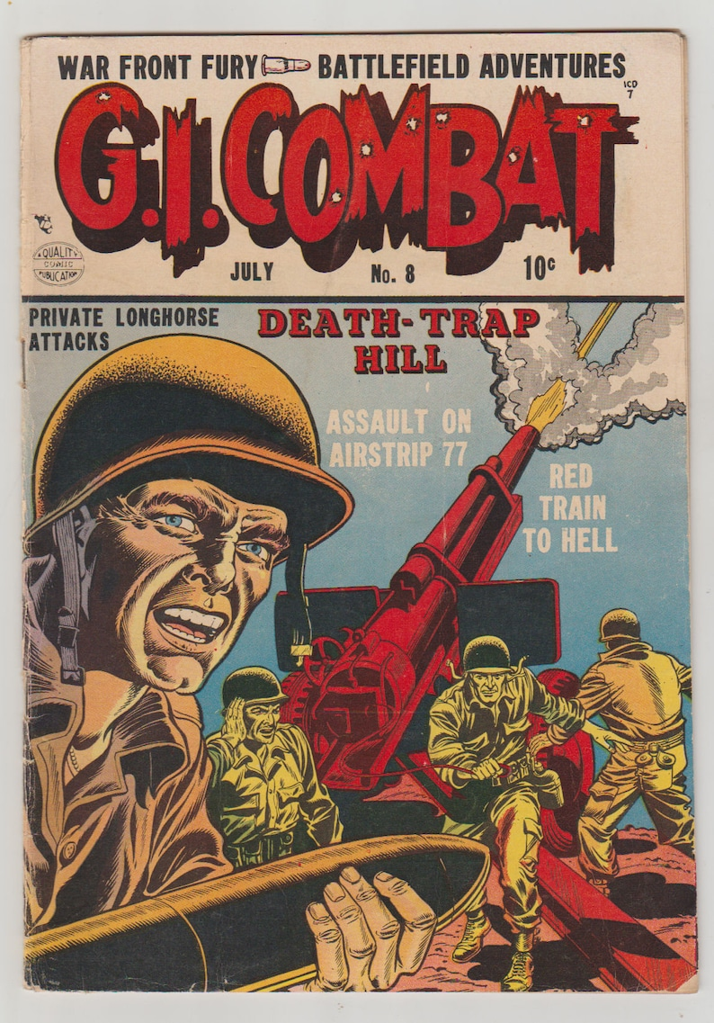 G.I Combat Vol 1 8 Golden Age War Comic. VG 3.5. July image 0