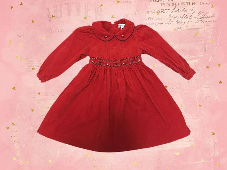 Vintage 1980s Christie Brooks Girls Dress Size 56