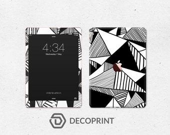 Geometric B&W iPad skin decal vinyl 3M quality iPad Mini iPad Pro iPad air