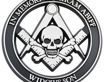 32nd Degree Scottish Rite Chrome Finish ABS Plastic Masonic Auto Emblem 3 Tall The Masonic Exchange TME-EMB-00120