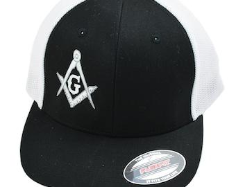 Prince Hall Mason Masonic Symbol Bucket Hat-New!