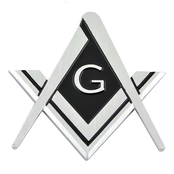 9 Wide x 2 1//2 Tall The Masonic Exchange TME-EMB-00136 2B1 ASK1 Chrome Masonic Auto Emblem