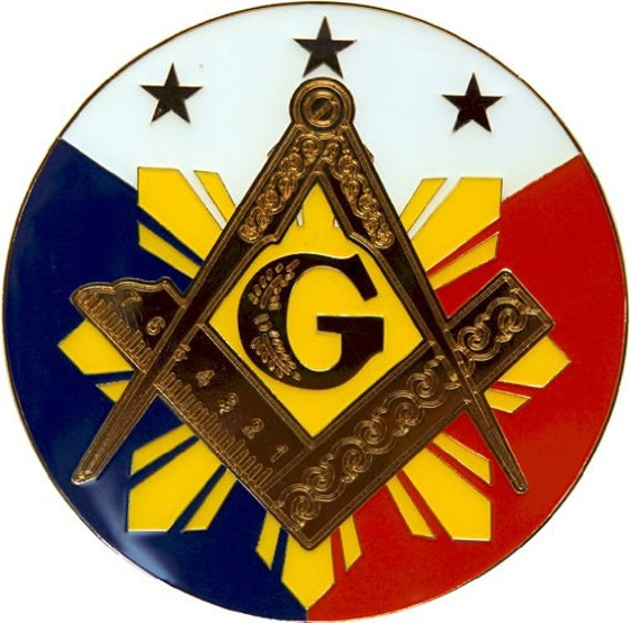 3 Diameter The Masonic Exchange TME-EMB-00055 33rd Degree Salem Cross Round Purple Masonic Auto Emblem