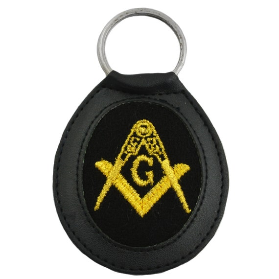 Keychain keyring embroidered embroidery patch masonic freemasson