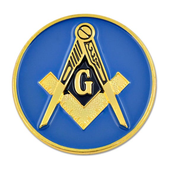 Masonic F/&AM Freemasonry Masons Cut Out Heavy Alloy Car Black Auto Emblem