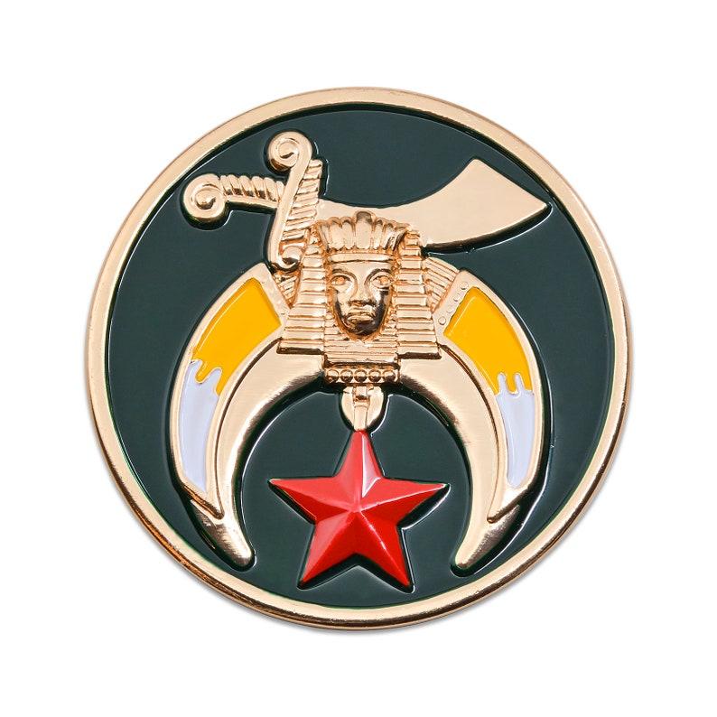 3 Diameter Working Tools 7 Liberal Arts Round Blue Masonic Auto Emblem