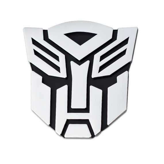 5 Tall The Masonic Exchange TME-EMB-00088 Transformer Decepticon Chrome Finish Auto Emblem