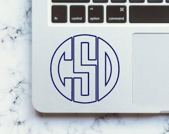 Outline Monogram Decal