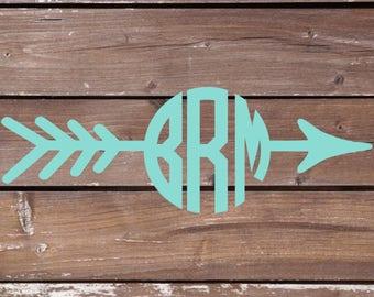 Arrow Monogram Decal