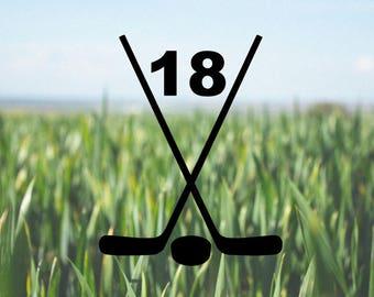 Hockey Stick Decal