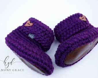 Soft Sole Baby Booties Footwear For Von Harmonygracedesigns