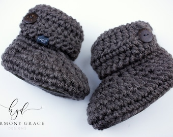 21098a92609b7 Soft Sole Booties & Moccasins for Littles by HarmonyGraceDesigns