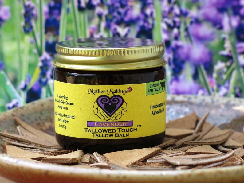 2oz Lavender Tallow Balm  Ancestral Skin Care image 1