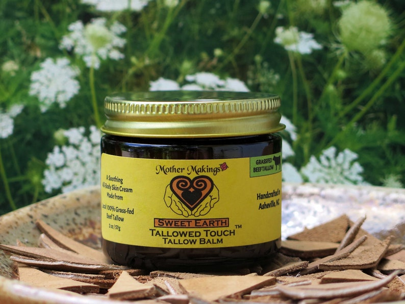 2oz Sweet Earth Tallow Balm  Ancestral Skin Care image 0