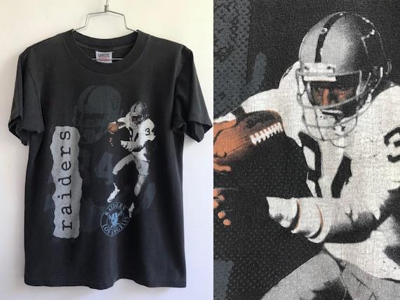4202d204 Vintage 80s LA Raiders Tshirt // 34 Bo Jackson NFL Tee // Los | Etsy