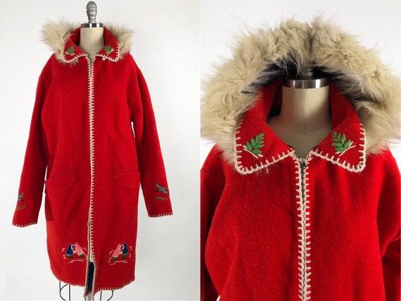 Vintage Wool Hooded Parka Inuit, Eskimo Coat Name