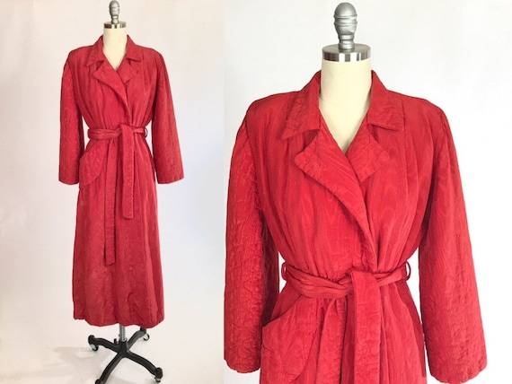 Vintage 40s Dressing Gown // 1940s Bathrobe // Ray