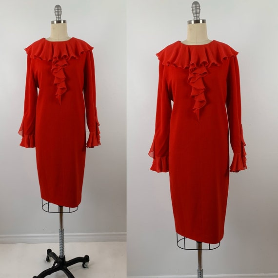 Vintage 80s Bill Blass Dress // 1980s Couture Desi