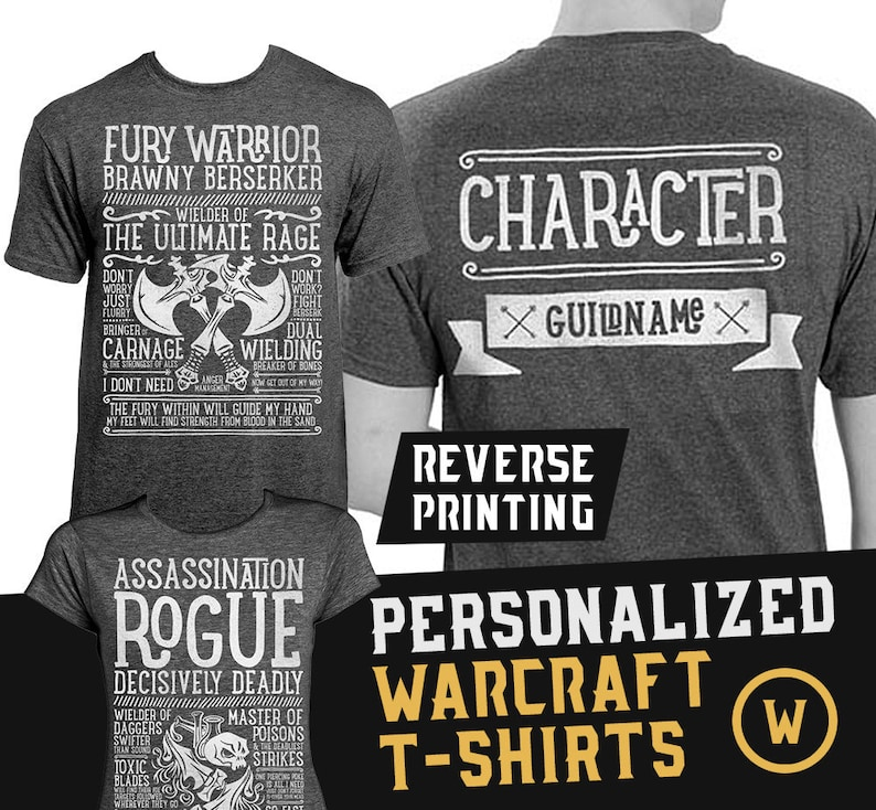16. World of Warcraft / WoW inspired Personalized Unisex T-shirt