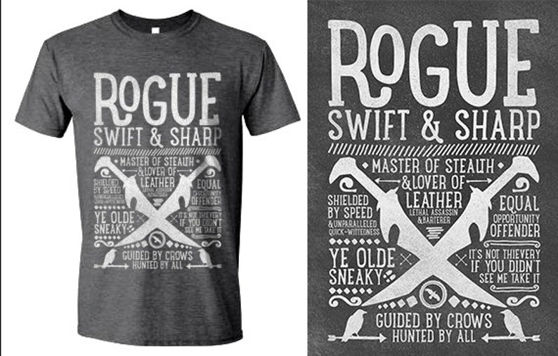 49d481bdfa4b World of Warcraft / WoW inspired T-shirt ROGUE Edition | Etsy