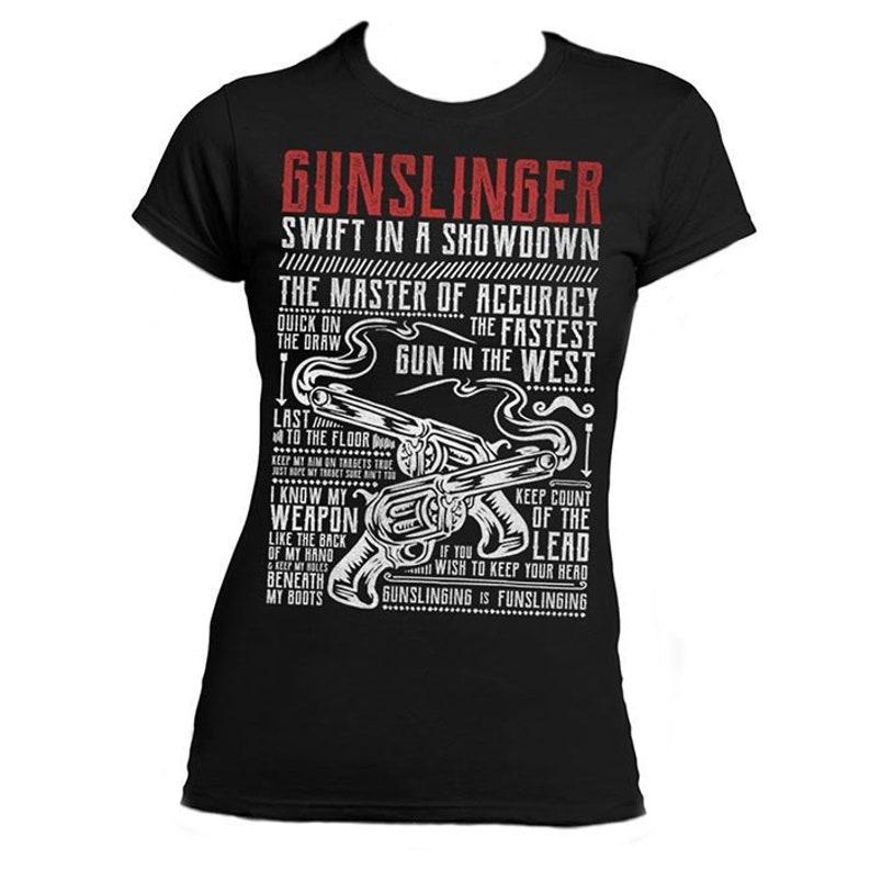 c7443033d6a5 GUNSLINGER Ladies T-shirt  Wild West  Collection
