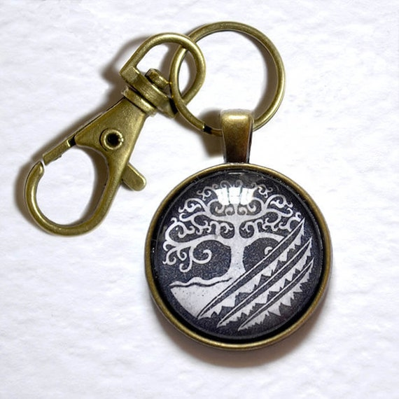 World Of Warcraft Wow Inspired Keyring Druid Symbol Etsy