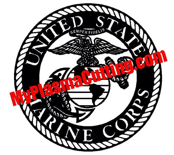Usmc Marines Logo Dxf File For Cnc Plasma Cutting Etsy