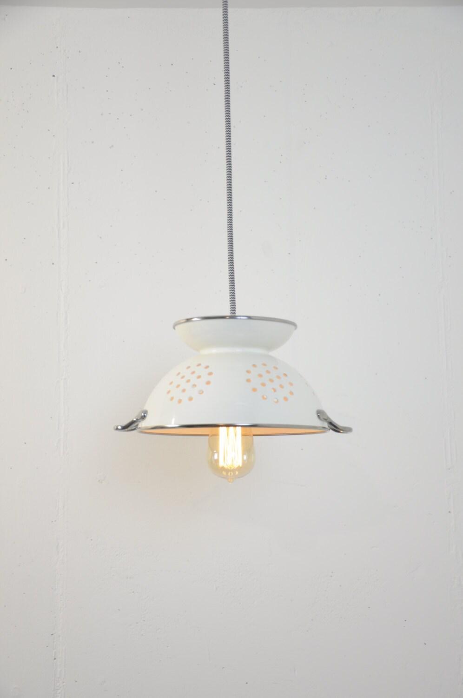 Sieb Licht weiße Anhänger Leuchten Sieb Lampe Küche   Etsy