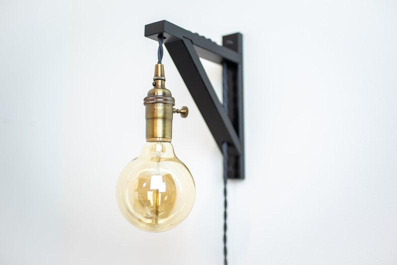 Tassello di applique da parete lampada a parete luce etsy